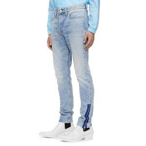 Calvin Klein Jeans Mens Zip Hem Rigid Skinny Jeans